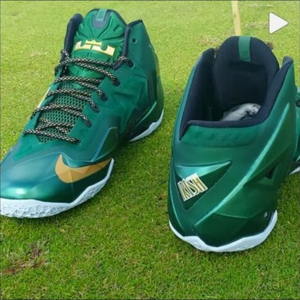 2cce6dbd23ca8 ... Detailed Look at Nike LeBron XI 8220SVSM8221 PE Away Editon .. ...