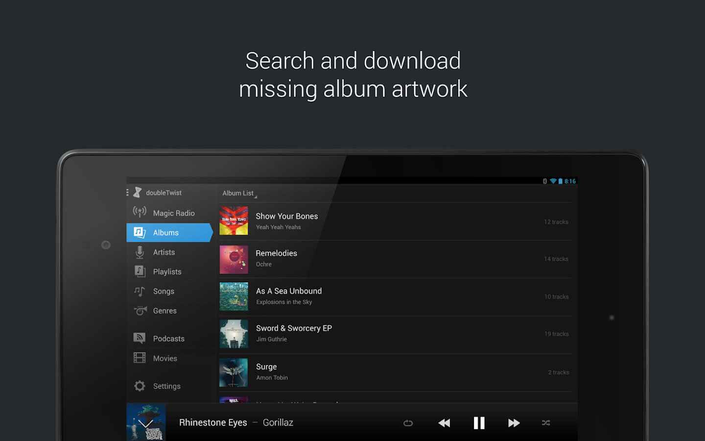 doubleTwist Music Player, Sync - screenshot