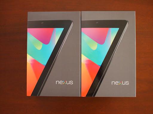 [写真]Nexus7パッケージ(2台分)