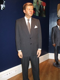 JFK model at Madame Tussauds
