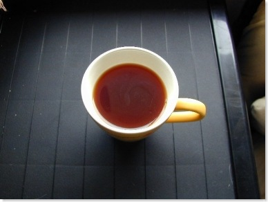 black tea placed on a table