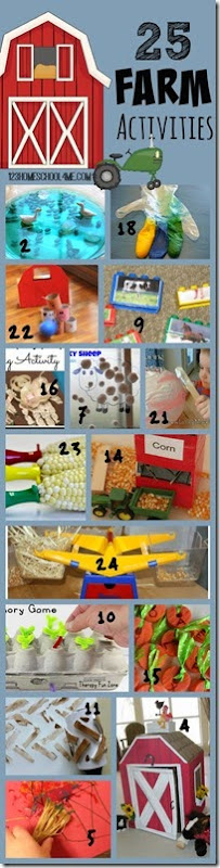 25 farm activities for kids - so many fun, clever, and unique kids activities with farm animals, barns, growing food, etc. Perfect for sprint or summer activities for toddler, preschool, kindergarten, first grade, 2nd grade, 3rd grade or farm unit!