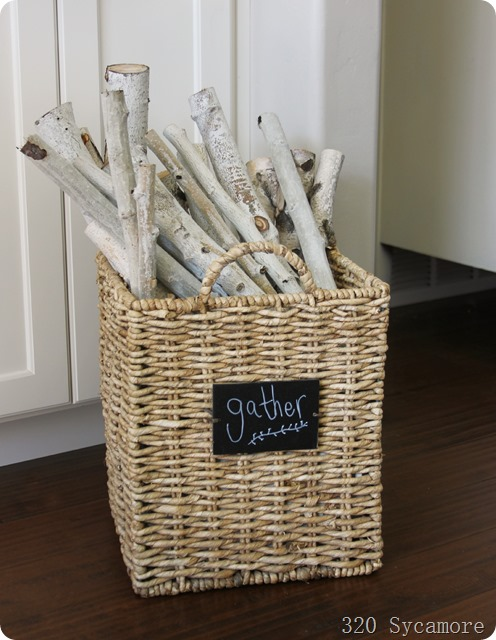 sticks in basket for fall