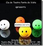 Espetáculo Memórias de Natal 2012 - cartaz de divulgação