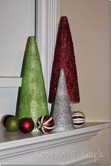 Glitter styrofoam cone Christmas Trees (11)