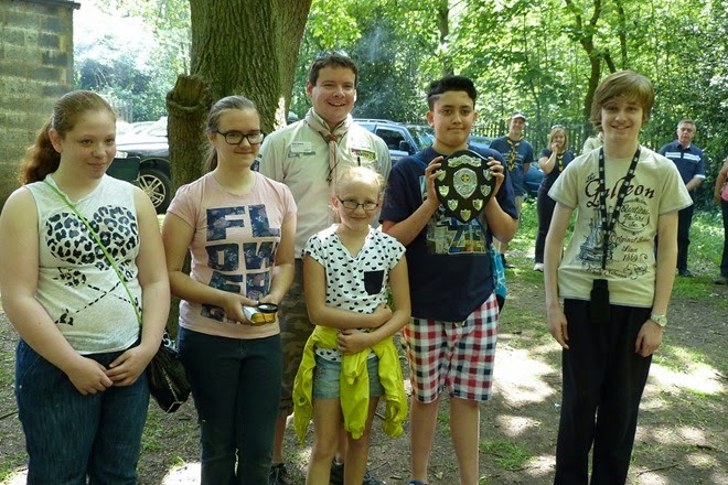 Scouts cooking competition winners