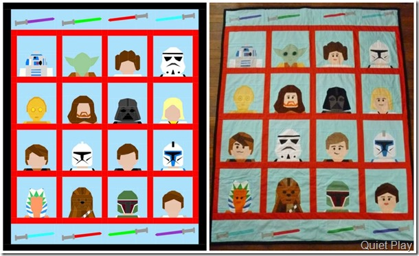 LEGO Star Wars paper pieced quilt