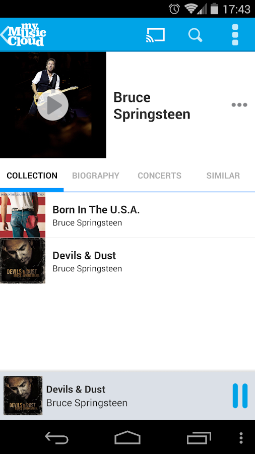 My Music Cloud: Storage & Sync- screenshot