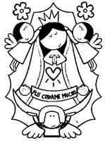 Nuestra Señora de Guadalupe para colorear