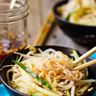 Savory Chinese Rice Noodle Salad
