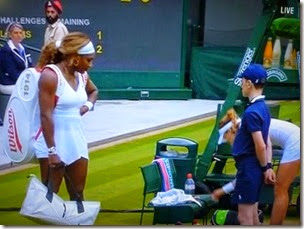 Serena and Cornet after the match