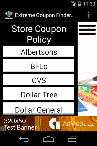Extreme Coupon Finder- screenshot