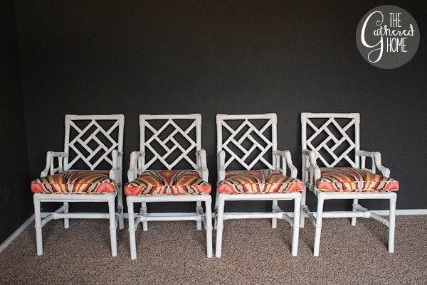 wicker chinese chippendale chairs