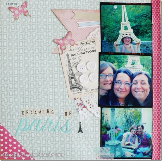 scrapbooking -  dreaming of Paris - 2012