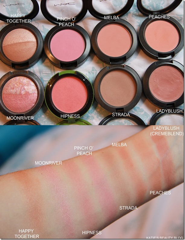 MAC BLUSHER SWATCHES