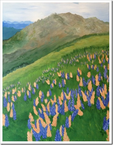 mountain lupines adrienne harrington