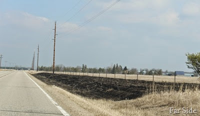 Grass Fire near the old farm
