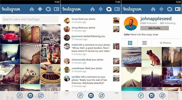 Instagram BETA para Windows Phone