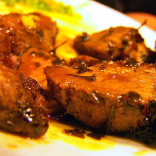 Broiled Sirloin With Butter Sauce.