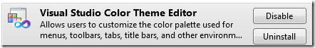 Visual Theme color editor