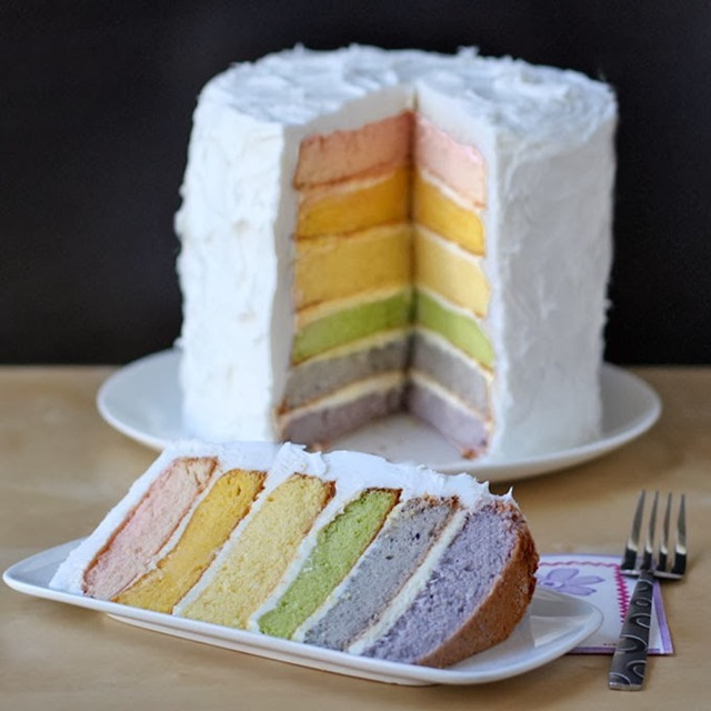 Natural Colored Rainbow Cake Square Image final