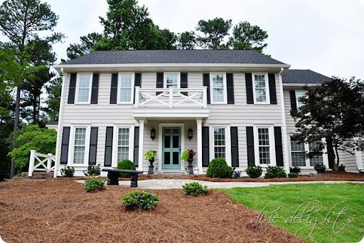 Exterior Paint: Revere Pewter, Charleston Green, White