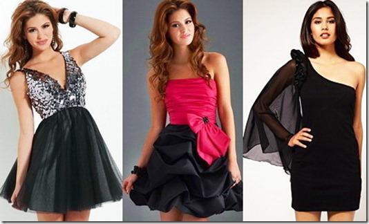 e65b14e606b0145 Платья на выпускной - фото: черные платья - блестящий лиф; двухцветное; с  одним рукавом