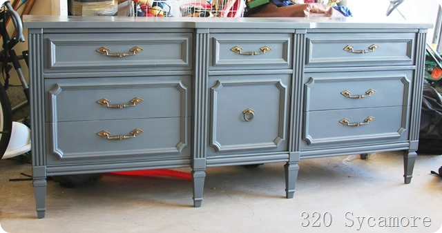 spray painted dresser