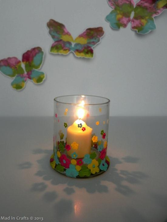 Dip Dot Flower Votive Candle