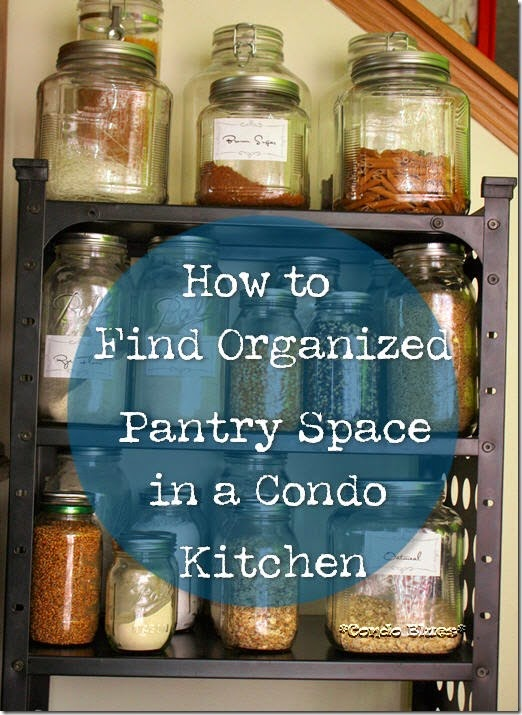 how to find organize pantry space in a condo kitchen