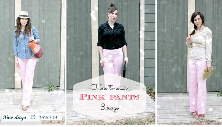 pink pants collage
