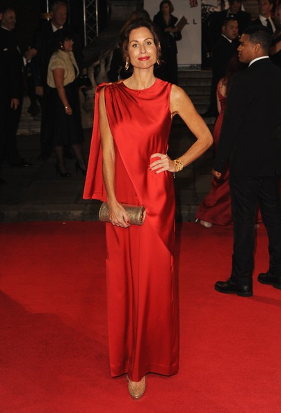 Minnie Driver attends the Royal World Premiere of Skyfall