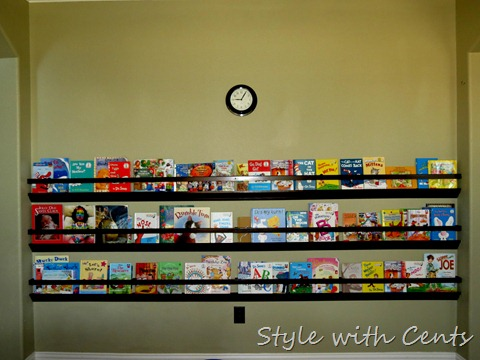 Style With Cents Upgraded Rain Gutter Bookshelves