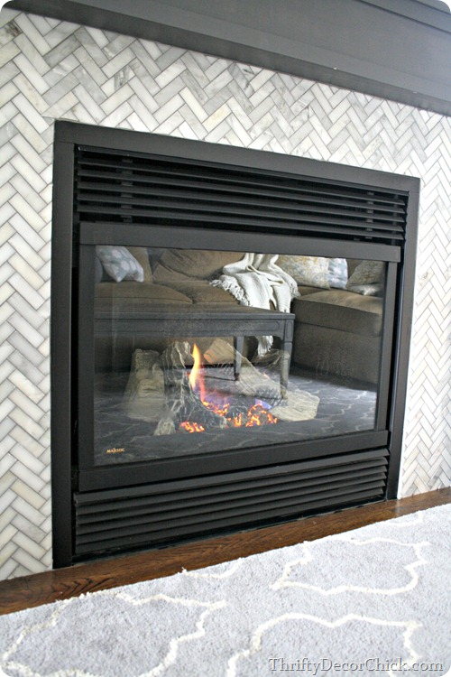 cleaning gas fireplace glass