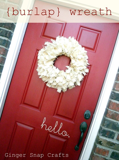 burlap wreath pinterest contest