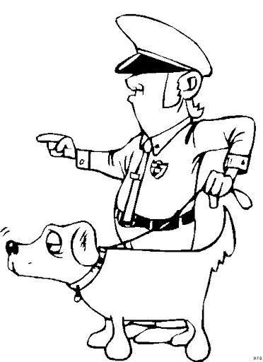 Dibujos Para Colorear Profesiones Policias Actividades