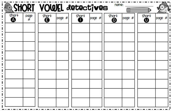 Number Names Worksheets short vowel sound worksheets for first grade : Made for 1st Grade: Short Vowel Review