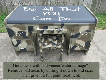 kid's camo desk (be all that you can be)