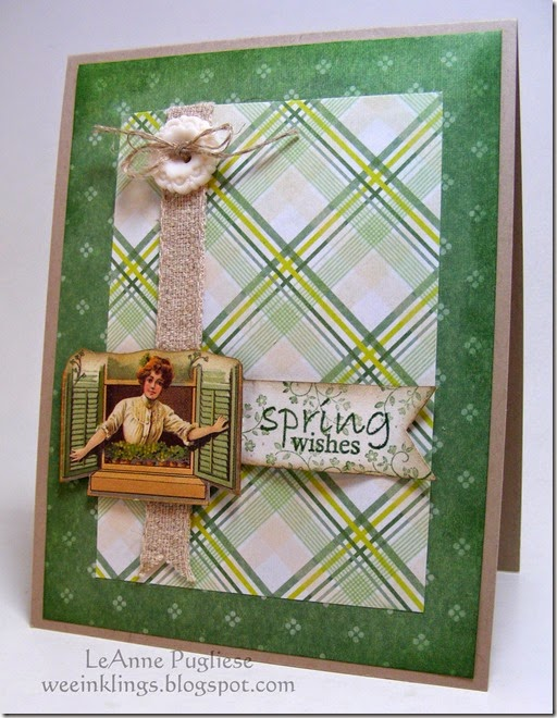 LeAnne Pugliese WeeInklings Crafty Secrets Vintage Spring Wishes