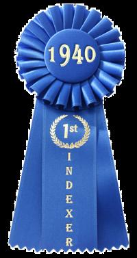 蓝丝带,1940年在白色,200
