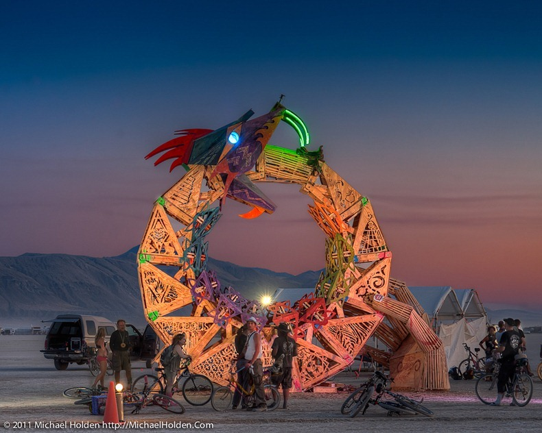 """Ouroboros"" by the Flipside CORE project, Burning Man 2011"