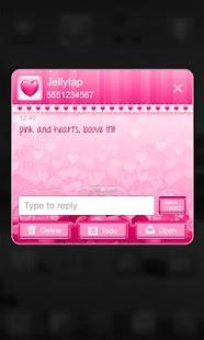 ♥Sweet Heart Theme Go SMS ♥ - screenshot thumbnail
