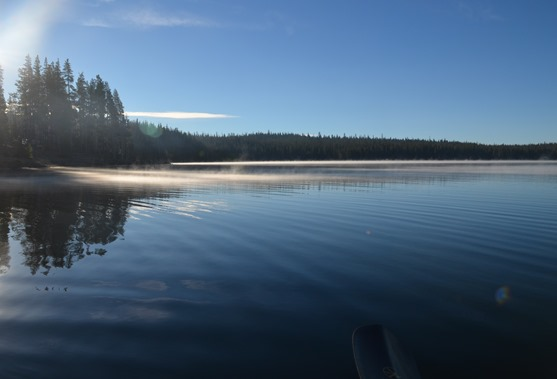morning miasma on Medicine Lake