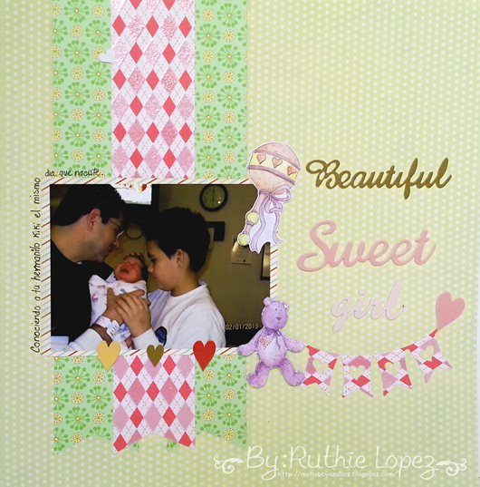 Layout - Dia Internacional del Scrapbooking - Latinas Arts and Crafts - Ruthie Lopez