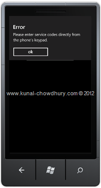 Screenshot 3: How to Call a Number in WP7 using the PhoneCallTask?