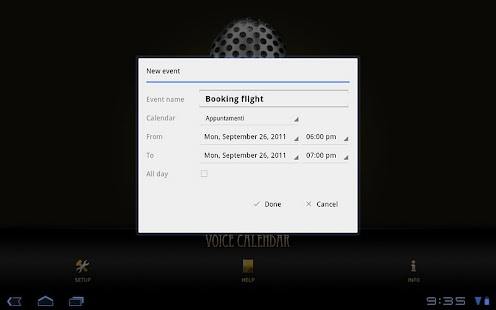 Voice Calendar - screenshot thumbnail