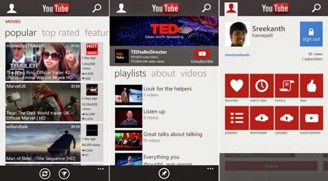 Youtube para Windows Phone