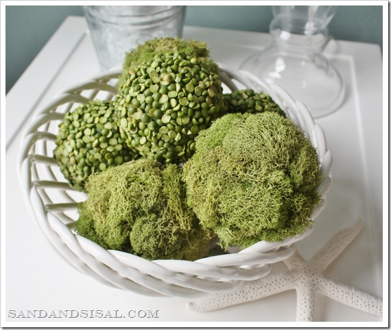 Decorative Moss and Pea Balls