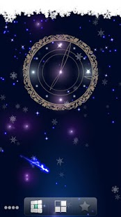 Snowy Night Clock L.Wallpaper