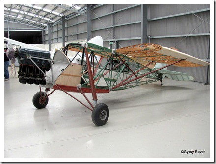 De Havilland DH80A swing wing Puss Moth. Built 1931 and last flew in 1959 when it went into storage until 1983.